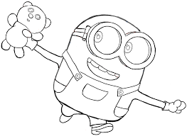 how to draw bob the minion with a teddy bear from minions
