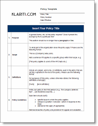 Free Office Policy Templates