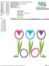 Bowling Machine Embroidery Designs Spring Tulips Free Easter Applique Machine Embroidery Design