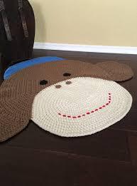 sock monkey rug crochet pattern