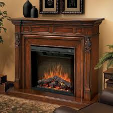 image of electric fireplace mantel wood