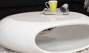 futuristic white lacquer coffee table black modern c