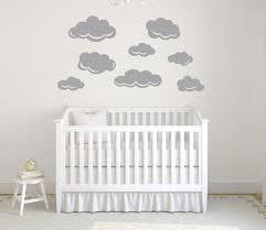 gray cloud decal cloud wall decal