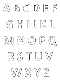 Alphabet Simple Alphabet Coloring Pages For Kids To Print Color