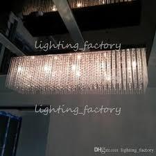 restaurant 100cm extra long chandelier crystal light with g4 led star light dining room restaurant led pendant lamp res de cristal bronze chandelier