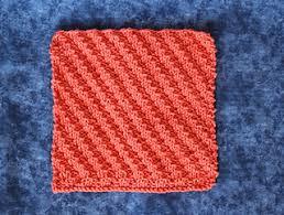 Knit Dishcloth Pattern Magnificent Ravelry Diagonal Rib Knit Dishcloth Pattern By Kimberlees Korner
