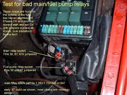i would replace the main relay check the circuit diagram on the side of the main relay to see if it has two separate contacts for the output pins 87 and 87b or