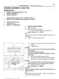 Toyota Camry 2002 Manual 14 Engine Mechanical | Transmission ...