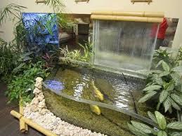 Indoor Waterfalls And Fish Aquariums