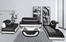 black and white modern furniture. Bentley Modern Black And White Sofa Set Furniture M