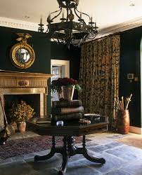 extravagant interior mansion decoration with rustic furnishings idea classic living room design with black metal