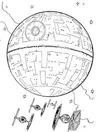 Small Picture Wars With Death Star Coloring Page snapsiteme