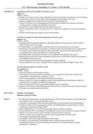 Management Consultant Resume Waste Management Consultant Resume Samples Velvet Jobs 20