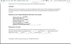 Example Of Personal Loan Agreement Letter Between Friends Or
