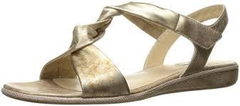 Ecco Bouillon Sandal Light Gold Walking Shoes Ecco Ecco Womens Jab Sandal Black Black
