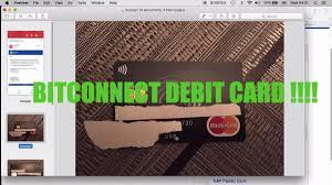 bitconnect debit card arrived