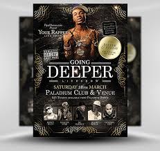 flyer rap free flyer templates hip hop going deeper free template ianswer