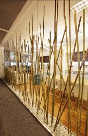 Bamboo Wall Design Images Partition Made Of Bamboo Poles From Turkcell Maltepe Plaza