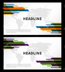 Abstract Cover With World Map Vector Illustration Title Pages