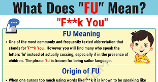 Be Stands For Fu Meaning What Does Fu Mean And Stand For 7 E S L