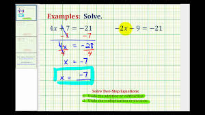 ex 1 solving two step equations using integers