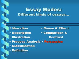 essay modes different kinds of essays ppt video online  essay modes different kinds of essays