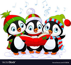 animated christmas penguins. Perfect Penguins Christmas Carolers Penguins Vector Image And Animated Penguins N