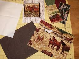 A New Life & I found this beautiful Horse fabric at Uniquely Yours Quilt Shop in  Orangeville, IL last week - I just had to make something. . or a few things. Adamdwight.com