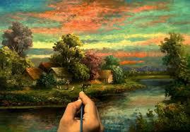 oil painting happy morning landscape by yasser fayad ياسر فياض you