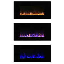 com electric fireplace wall mounted led fire and ice flame with remote 42 inch by northwest home improvement
