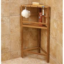 teak shower caddy stand