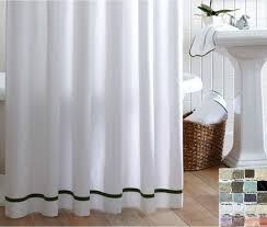 Linen Shower Curtain with Stripes accent, choose from 40+ linen ...