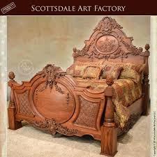wooden bed design hand carved bed walnut custom wood bedroom furniture carved by the hands of wooden bed design