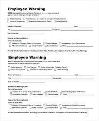Employee Warning Letters Template Employee Warning Letter Template Employee Verbal Warning Template