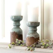 rustic wood candle holder wooden pillar farmhouse decor holders tall ru