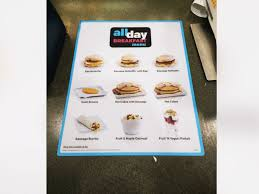 photo the new all day breakfast menu at mcdonalds in new york city