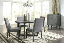 dark gray 7 round dining table 4 upholstered side chairs set of 6 uk home design chair used 8 winsome