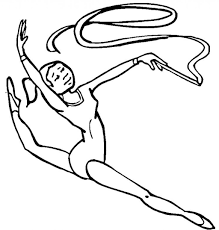 Small Picture Free Printable Gymnastics Coloring Pages For Kids