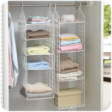 Creative Home Closet Organizer Plastic Folding Storage Shelving Hook Storage  Hanging Shelves Clothes Rack Holder