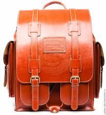 backpacks handmade livemaster handmade leather backpack marine red