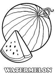 Small Picture A Slice of Fresh Watermelon Coloring Page watermelon birthday