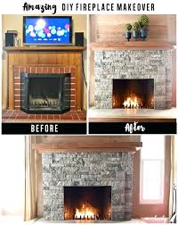 fireplace makeover diy brick build mantel