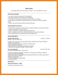 Housekeeping Resume 100 Housekeeper Resume Sample Self Introduce 57