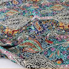 Bohemian Pattern Stunning Ethnic Paisley Dress Cotton Material Bohemian Floral Pattern Poplin