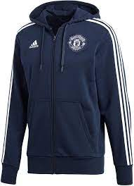 adidas Men's Manchester United 3s Full Zip Hoodie Hooded Jacket: Amazon.de:  Bekleidung