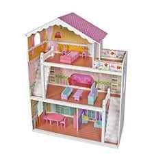 wooden barbie dollhouse furniture. Large Childrenu0027s Wooden Dollhouse Fits Barbie Doll House Pink With Furniture O