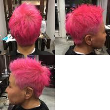 とてもお洒落なお客様 ダブルカラーでド派手な原色ピンクに 大人カラー