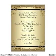 50th Anniversary Party Invitations Elegant Gold 50th Wedding Anniversary Party Invitation