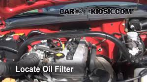 oil filter change chevrolet tracker 1999 2004 2000 chevrolet 5 oil filter