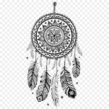 dreamcatcher coloring book mandala drawing decal black and white feathers canula